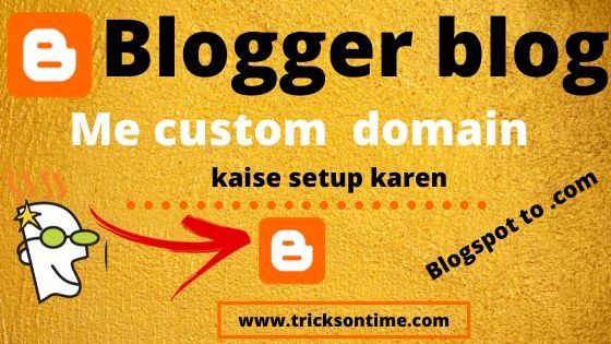 how to add godaddy domain to blogger